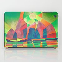 Sea of Green With Cubist Abstract Junks  iPad Case