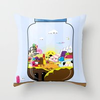 SF Sweet Jar Throw Pillow
