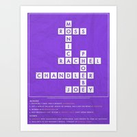 FRIENDS - CROSSWORD Art Print