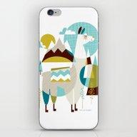 Mama The Llama iPhone & iPod Skin