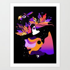 Tropical Night ✨ Art Print