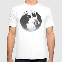 Death And Life Mens Fitted Tee White SMALL