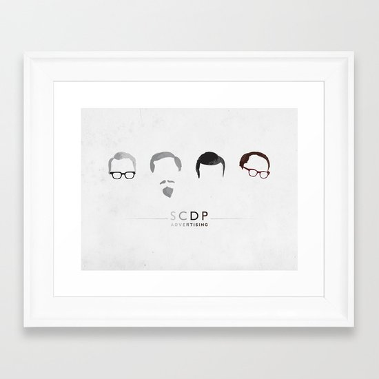 MAD MEN / SCDP Framed Art Print