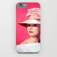 iPhone & iPod Case featuring Audrey Hepburn Pink Version - for iphone by Simone Morana Cyla