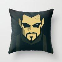 Jensen / Deus Ex: Human … Throw Pillow