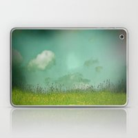 Daydreaming in the meadow - textured photography Laptop & iPad Skin
