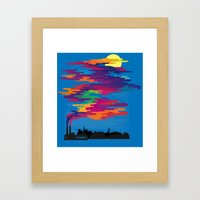 Hidden in the Smog (day) Framed Art Print