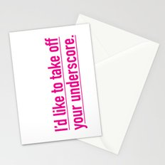 Score with the underscore. Stationery Cards