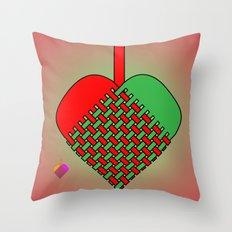 Julekurv Throw Pillow