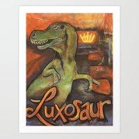 Luxasaur Art Print