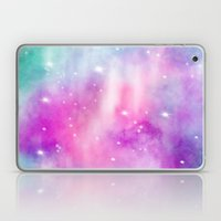 Trendy bright watercolor pastel nebula space hand painted Laptop & iPad Skin