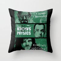 Knowledge Rules Throw Pillow