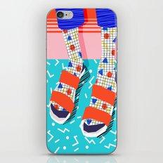 No Doi - memphis throwback retro classic style fashion 1980s 80s hipster shoes socks urban trendy iPhone & iPod Skin