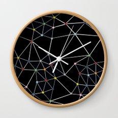 Seg with Color Spots Wall Clock