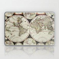 Vintage map of the World 1696 Laptop & iPad Skin