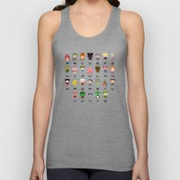 Video Games Pixel Alphab… Unisex Tank Top