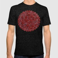 Red Buttons Mens Fitted Tee Tri-Black SMALL