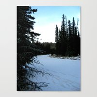 Wintertime in WaterValley Canvas Print