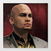 Canvas Print featuring Breaking Bad Illustrated - Leonel Salamanca by Martin Woutisseth