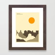 CANYONLANDS Framed Art Print