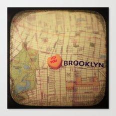 I Love You Brooklyn Canvas Print