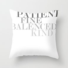 Skinny Love Typography Throw Pillow