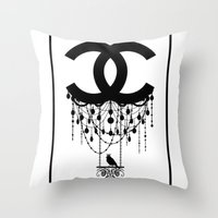 Coco Chandelier Throw Pillow