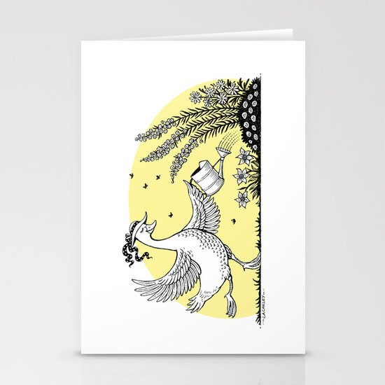 Garden Duck Stationery Card