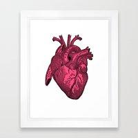 Hot Pink Heart Framed Art Print