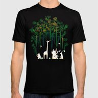 Re-paint The Forest Mens Fitted Tee Black SMALL
