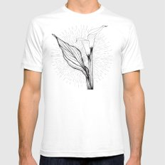 Lily in Black and White SMALL Mens Fitted Tee White