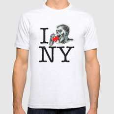 I Zombie Apocalypse New York Mens Fitted Tee Ash Grey SMALL