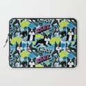 Boston Terrier Pattern Laptop Sleeve