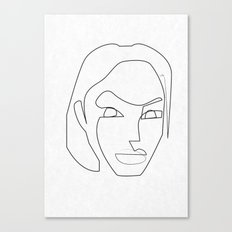 One line Lara Croft 1996 Canvas Print