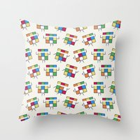 Aerubiks Throw Pillow