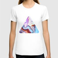 nature T-shirts featuring Agate, a vivid Metamorphic rock on Fire by Elena Kulikova