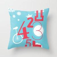 123... Throw Pillow