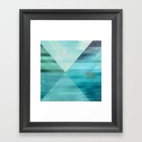 Lake and boat Framed Art Print