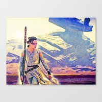 Rey Solo Destroyer - The Force Awakens Canvas Print