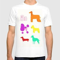 The Rainbow Dogs II Mens Fitted Tee White SMALL