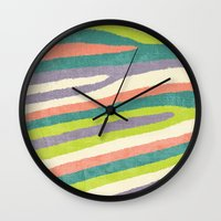 Fruit Stripes. Wall Clock