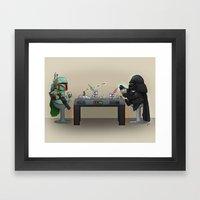 Star Poker Game Framed Art Print