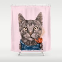 Sailor Cat IX Shower Curtain
