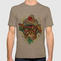masked Mens Fitted Tee Tri-Coffee SMALL