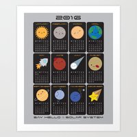Say Hello to the Solar System 2016 Calendar  Art Print