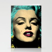 MARILYN BLUE Stationery Cards
