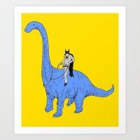 Dinosaur B Art Print