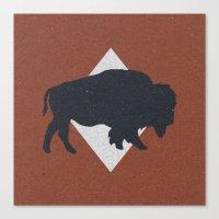 Bison & Blue Canvas Print