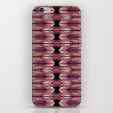 Pattern geometric purple, pink and black iPhone & iPod Skin