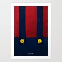 Video Game Poster: Plumb… Art Print